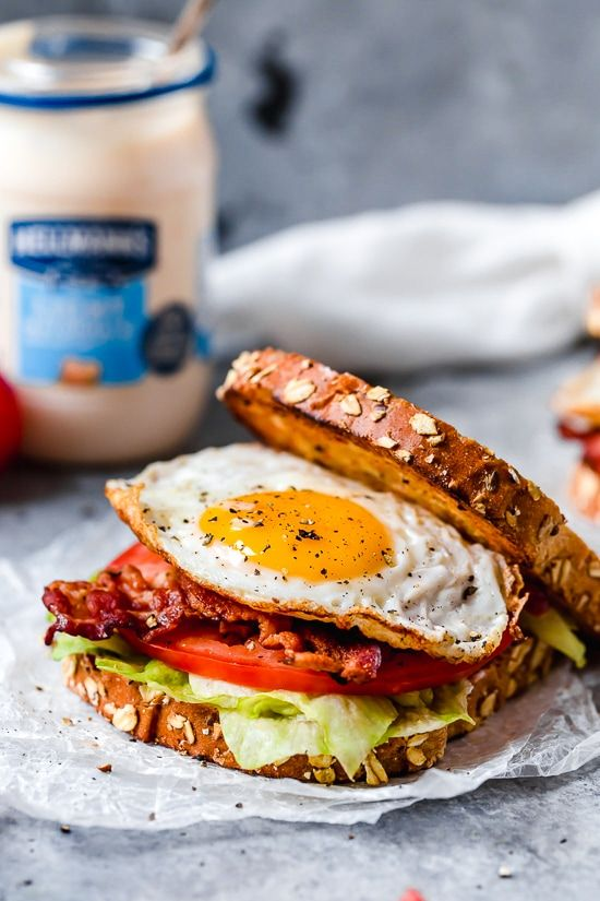 Breakfast BLT Egg Sandwich b4c42426f97a15bd1bd194a6fd2b9100