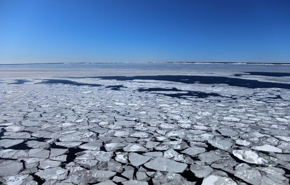 Temperature frozen water