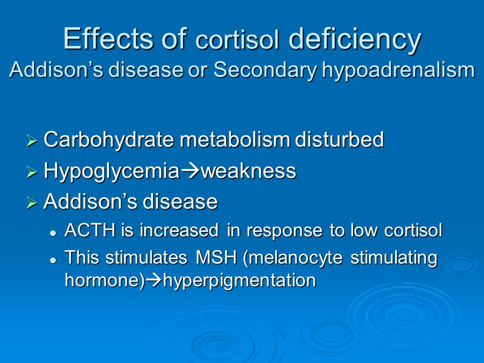 What is the Cortisol Hormone -Cortisol Deficiency